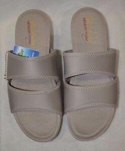 Skechers Women's Breeze Low Star Burst Taupe Sandals - Size 8/9/10 NWOB