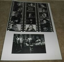 "Film Noir Photos Movie Poster Art Print 19"" x 13"" Black/White Character's"