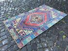 Bohemian rug, Handmade wool rug, Turkish vintage rug, Carpet | 3,3 x 5,6 ft