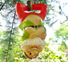 Large Gnome rope swinging hanging ornament decoration sculpture Gnome lover gift