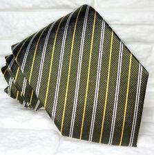 Cravatta regimental verde scuro TOP Quality NOVITÀ Made in Italy 100% seta marca