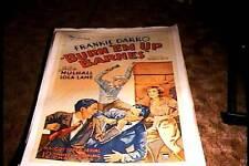 BURN EM UP BARNES  ORIG MOVIE POSTER 1932 LINEN FRANK DARRO LOLA LANE SERIAL