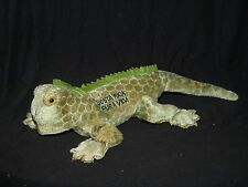 "Plush Lizard Gecko Costa Rica Pura Vida Green Plush 15"" Souvenir Stuffed Animal"