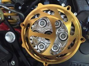 "Ducati dry clutch - gold clutch cover ""Blade"" open NEW"