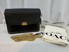 Coach 73547 Mixed Leather Dreamer Shoulder Bag Black
