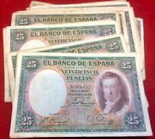 ESPAGNE 25 Pesetas 1931 Vicente Lopez