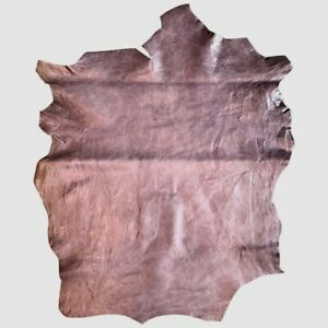 SALE Waxy Purple Genuine Leather Hide Upholstery Material Crafting Fabric F895