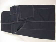 Armani Black Label Womens Navy Flat Front Parachute Pants Size 6 Italy Made