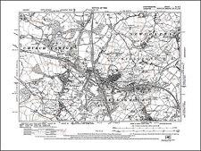 Kidsgrove, Butt Lane, Coalpit Hill, old map Staffordshire 1926: 6SE repro