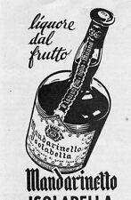 Pubblicità vintage liquore Mandarinetto Isolabella werbung advert reklame A5