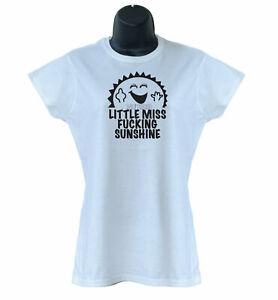 Little Miss F*cking Sunshine Funny Comic Ladies Kids T-Shirts S-XXL