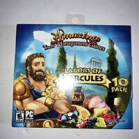 Labors of Hercules Amazing Time Management Games (PC, 2018) New! 10 Game Pack