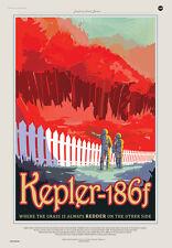 NASA Exoplanet Travel Bureau - Kepler-186f Space Travel Poster Magnet