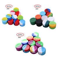 10 2/3/5ml Silicone Round Wax Jars Storage Box Container Nonstick Sealing Case