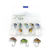 Mini Wobbler Set Box 10 UltraLight Köder Einzelhaken Forelle Barsch Zite Fishing