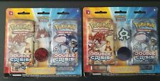 NEW Pokémon Double Crisis Card Pack Blister Set (2) Team Aqua/Magma Pin and Coin
