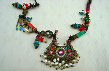LES NEREIDES MULTICOLOUR NECKLACE with enamel charmes and beads