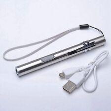 Mini 500lm Flashlight USB Lamp Led Rechargeable Pen Pocket Size Portable D5C