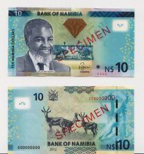 Specimen, Namibia, 10 Dollars, 2012, P-New, UNC