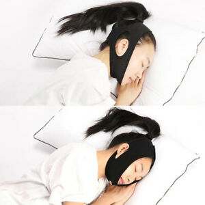 Anti Snoring Chin Strap Sleep Apnea Aids Snore Stop Belt For Mens Womens