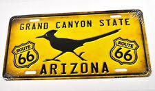 USA Auto Nummernschild License Plate Deko Blechschild Arizona Route 66 gelb
