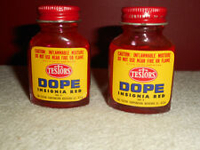 Testors Dope Insignia Red No. 4 Paint Nitrate Vintage 1950's NOS 2 Bottles 30cc