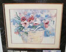"""Dimensions No Count Cross Stitch by Dawna Barton """"Fresh Floral Basket"""" VTG"""