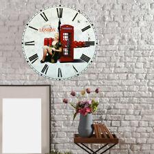 Decorativo Vintage Orologio Parete Cucina Quarzo Tempo Anzeige England Analogico