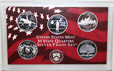 1999 S Five Coin State QUARTER Proof 5 Coin Silver Statehood Coins 25c
