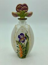 Vintage Limited Edition Hand Painted Glass Scent Bottle
