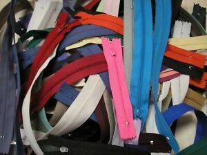 100 New 2.5 Closed End Coil Zippers - Assorted Colors