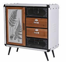 Kommodenschrank Retro Sideboard Flurschrank Vintage Kommode Metallschrank Loft