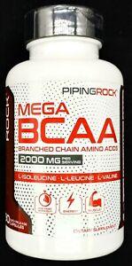 2000mg Mega BCAA Branched Chain Amino Acids Capsule L Isoleucine Leucine Valine