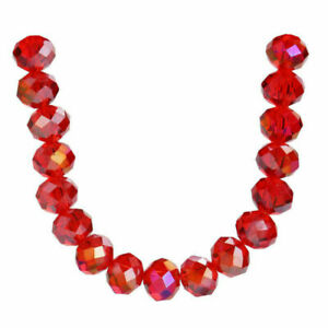 500pcs Mixed Faceted Crystal Glass Rondelle Loose Spacer Beads Jewelry Making#