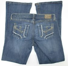 The Buckle BKE Women's Jeans Size 28 STAR Flare Stretch Low Rise Distressed Blue