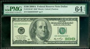 FR#2182-K* 2006A $100 SCARCE DALLAS BINARY STAR NOTE AWESOME PMG CHCU 64 EPQ!!!