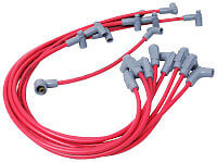 MSD 35599 Red 8.5mm Super Conductor Spark Plug Wire Set SBC Chevy With HEI Cap