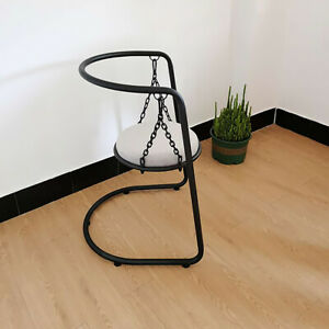 Hammock Hanging Chair with Stand Velvet Upholstered Round Seat Accent Chair