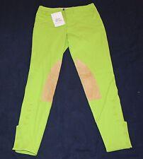 Brand New Ralph Lauren Riding EQUESTRIAN PANTS Women's 4 Neon Green Small S $150