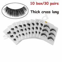 30Pair 3D Handmade Messy Cross Long Extension Thick False Eyelashes Makeup