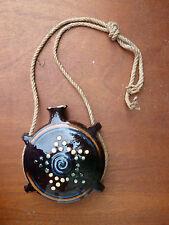Ancienne cruche en terre vernissé, gourde, art populaire de provence, savoie