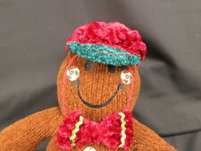 JIGGLE WIGGLES GIGGLE CHRISTMAS PLUSH SMILEY HAPPY FACE GINGERBREAD HOLIDAY TOY