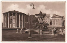1940s Antique Vintage Postcard ITALY ROME TEMPLE of VESTA HERCULES VICTOR