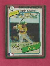 1 Rickey Henderson Card Oakland A's 1980 Topps # 482  EX Near Mint