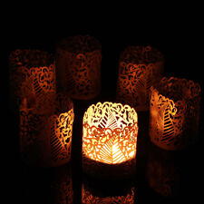 6x Tea Light Candle Lampshade Holder Votive Wedding Party Vintage Xmas Decor