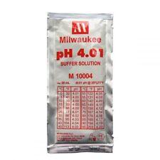 Milwaukee M10004 pH 4 Buffer Solution for Digital pH Meter Calibration, 20ml x 3