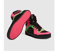 GUCCI 388015 Womens Neon MultiColor Basketball HighTop Sneaker 1005 Size 38.5 EU