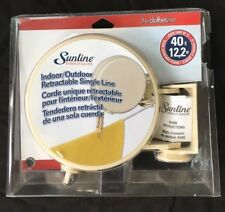 Sunline 40 Ft Single Line Retractable indoor outdoor Clothesline