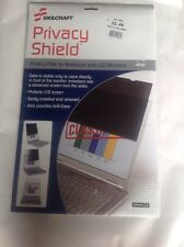Skilcraft LCD LED Privacy Shield Filter, 22 in., Smoke Color