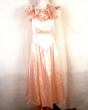 vtg 80s Roberta CLASSIC pink Floral Princess Formal Prom Dress Homecoming 11/12